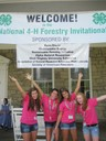 Erin Holbert, Caitlyn Waldrop, Lexi Holbert, and Shai Hollifield represented Vermillion County and the state of Indiana at the National 4-H Forestry Judging Invitational held recently at Jackson's Mill State 4-H Camp in West Virginia.